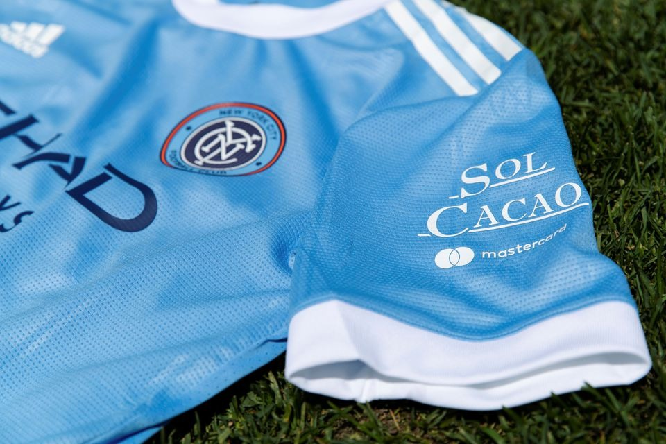 Soccer-New York City FC gift sleeve sponsorship to small chocolate maker